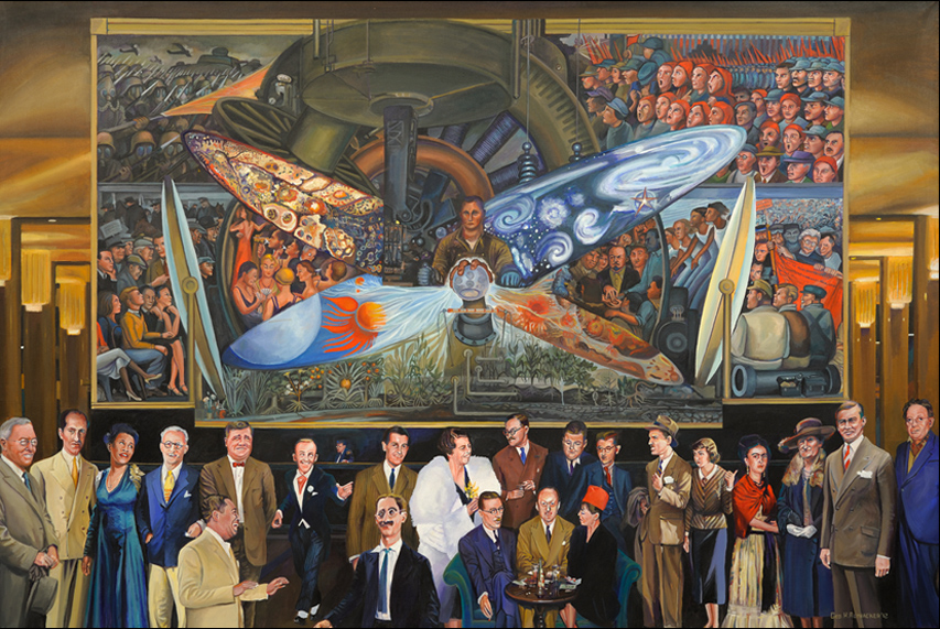 Man at the crossroads video for Diego rivera mural at rockefeller center